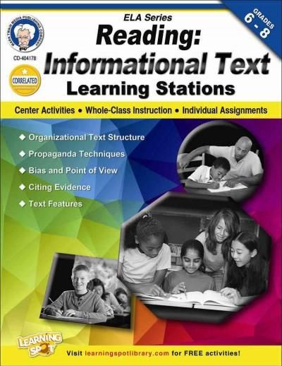 Reading: Informational Text Learning Stations is perfect for center activities, whole class instruction, or individual assignments. Topics includes organizational text structure, bias and point of vie