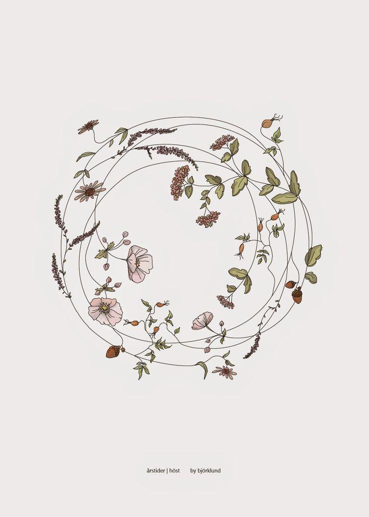 Het principe van verschillende bloemen met dun lij…