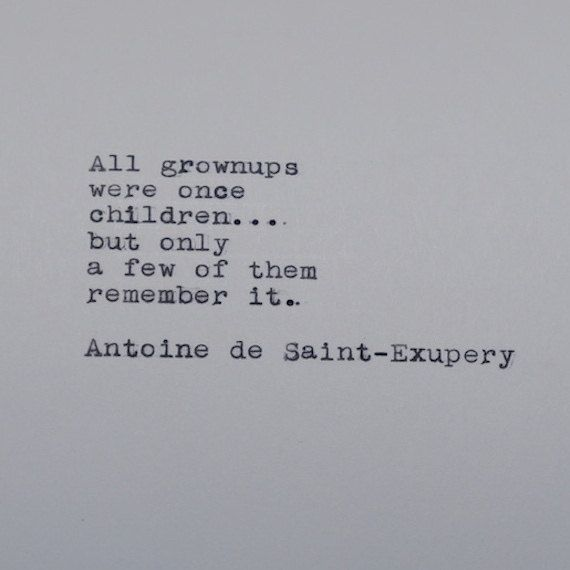 Antoine de Saint-Exupery Quote Typed on Typewriter by #LettersWithImpact