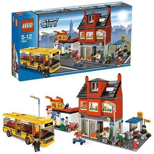 New Lego City Corner Set 7641 Transportation Buildings Bus Pizza Shop
