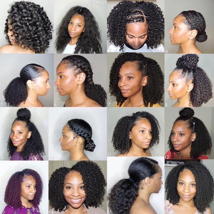 Couche naturelle cheveux bouclés   – coiffure