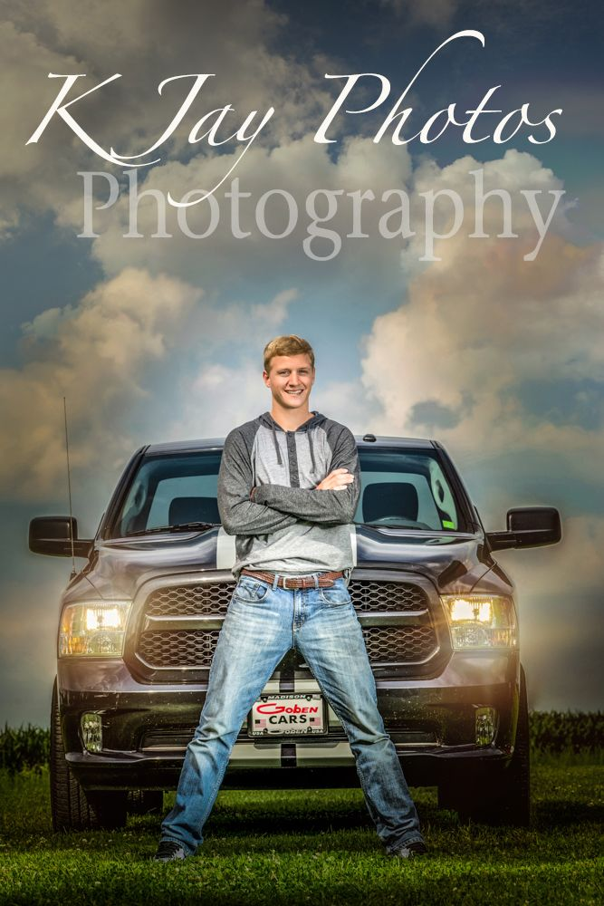 Cool truck senior pictures, K Jay Photos Photography, Madison WI Photographer