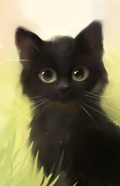 Savage Cat by Rihards Donskis #black #illustration