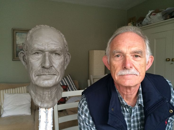 My second clay portrait head completed with thanks to my very patient father!