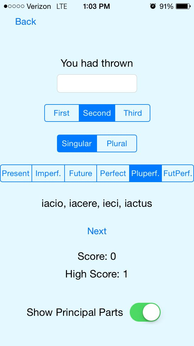 Latin App        i If you are taking Latin I, this is the study app for you. Created by a teacher at the Foote School in New Haven, CT, to help middle schoolers study verb and noun forms, the Latin App makes drilling simple and fun. If you are using the Ecce Romani textbook, just enter the chapter you are currently on and go. Otherwise, read about what forms are generated on the information screen before you start. 5MB