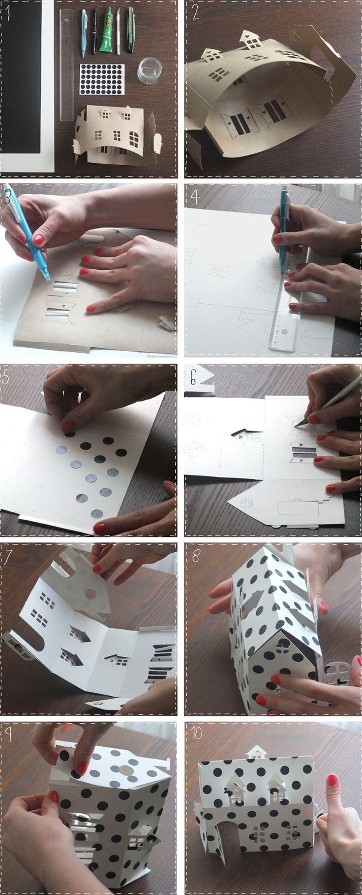 Maison en papier à imprimer sur du papier épais format A3