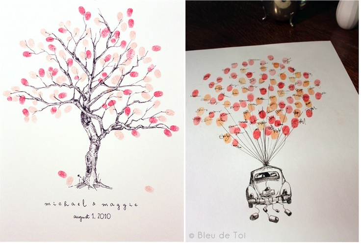 Fingerprint Trees in place of a guest book