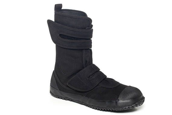 FUGU, cool Japanese shoes. Japanese Unisex Vegan Work Boots SA-ME - FUGU Shoes Take a look at the Sa-Me from FUGU. Constructed from breathable cotton canvas with a recycled hard rubber slip resistant sole, these Japanese shoes are nice to wear and nice to look at. Don't let their
