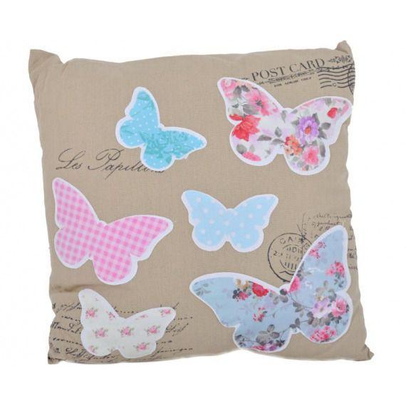 Poduszka z motylami 40x40