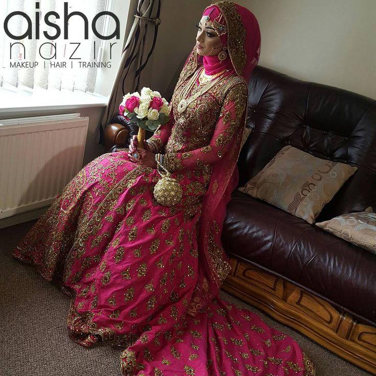 "274 Likes, 7 Comments - a i s h a n a z i r (@aishanazirmua) on Instagram: ""2016 Hijabi Bride by @aishanazirmua FOR BRIDAL BOOKINGS CONTACT: 07917639169 #Birmingham…"""