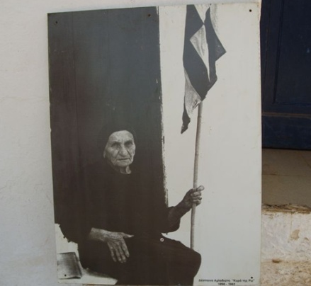 Lady of Ro (Despina Achladioti), who would raise the greek flag in the remote island of Ro, near kastellorizo, until the day of her death, age 92, on May 13th 1982.