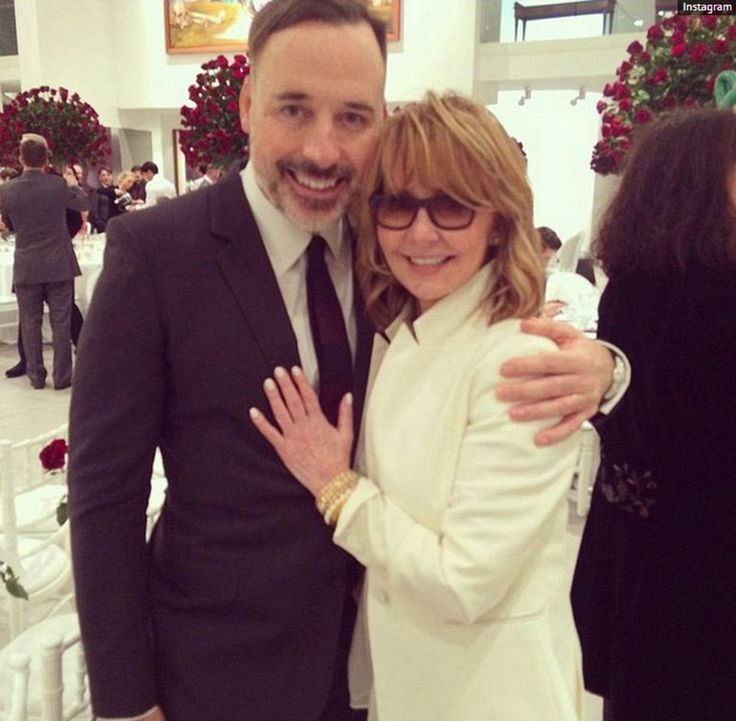 Congratulations are in order: The lucky lady also caught up with the groom himself, David Furnish