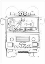 Målarbilder för barn Brandman Sam27