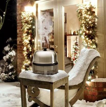 Need an extra oven during the holidays? No supervision necessary! Cobb will do the job. The real thing - cooks a whole meal with 6-10 briquettes. Cobb cooking - any season - anywhere! www.cobbgrillamerica.com