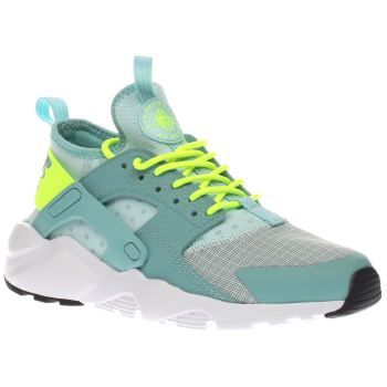 Nike Pale Blue Air Huarache Ultra Girls Youth The coolest of kids definitely deserve a sneakerhead status thanks to the Nike Air Huarache Ultra. The pale blue man-made trainer features mesh panels for breathability and neon yellow accents for a s http://www.MightGet.com/january-2017-13/nike-pale-blue-air-huarache-ultra-girls-youth.asp