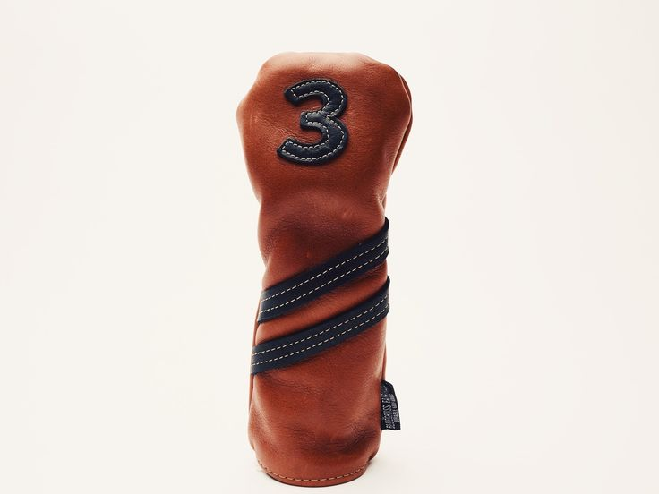 Americana Edition leather golf Headcover in Chestnut 3 wood