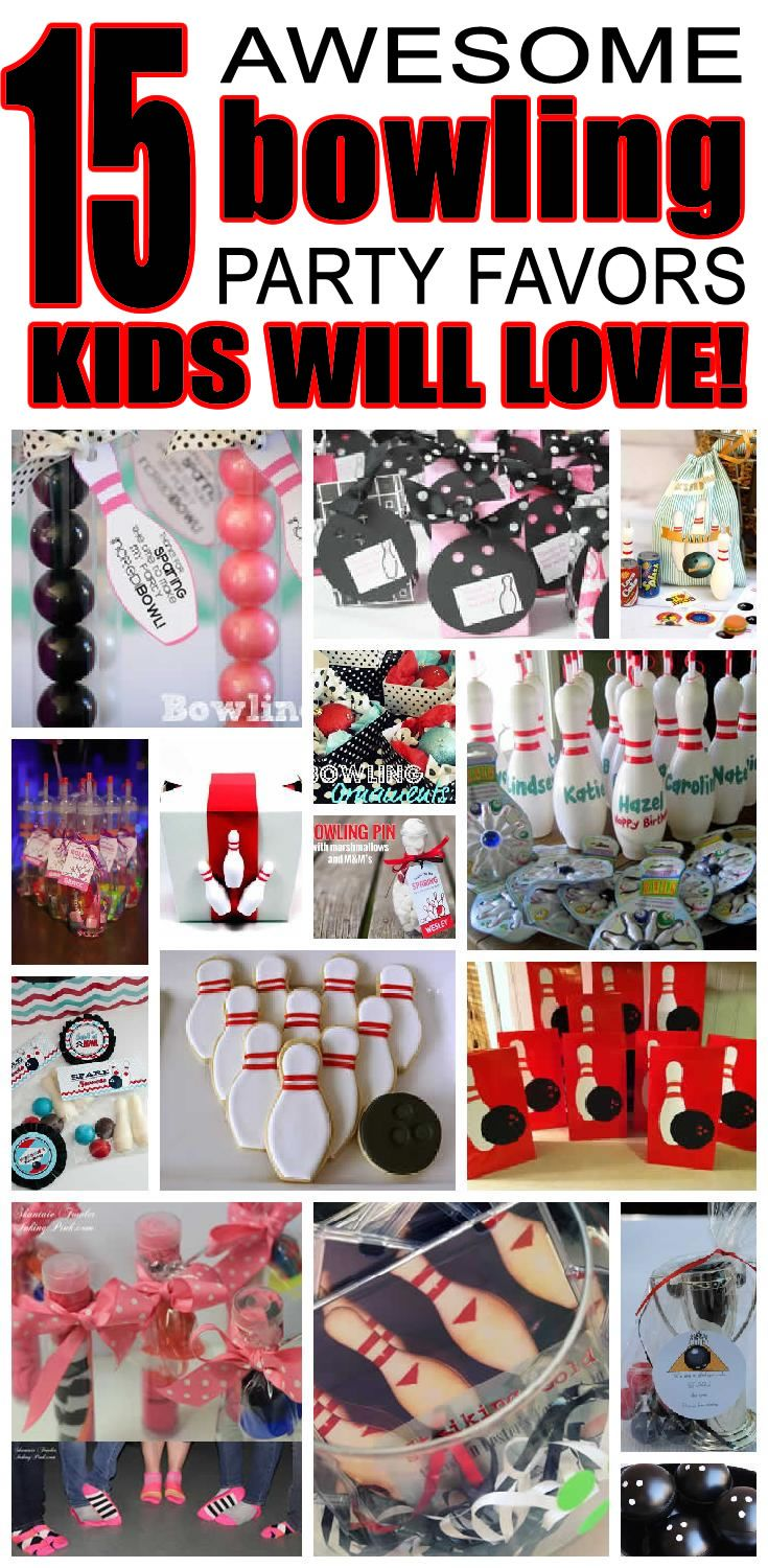 Strike up some unique bowling party favor ideas for kids. Fun and easy bowling birthday party favor ideas for boys and girls. From goody bags to bowling pin cookies make your child's next bowling birthday a hit.