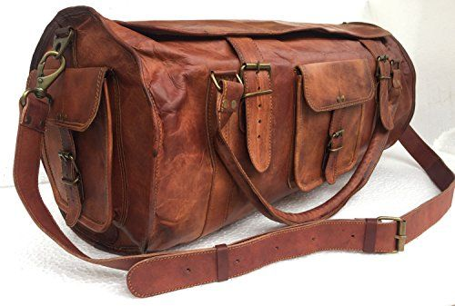 Universal Leather Handmade Leather Duffel Weekend Holdall Bag 24X11X11 Inches Brown -- For more information, visit image link. Note:It is Affiliate Link to Amazon.