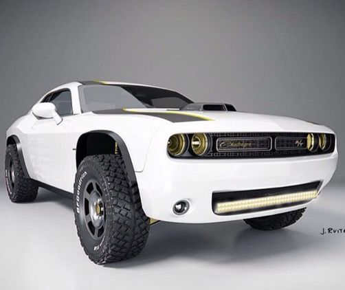 Off-road Dodge Challenger Hellcat, this could be fun....
