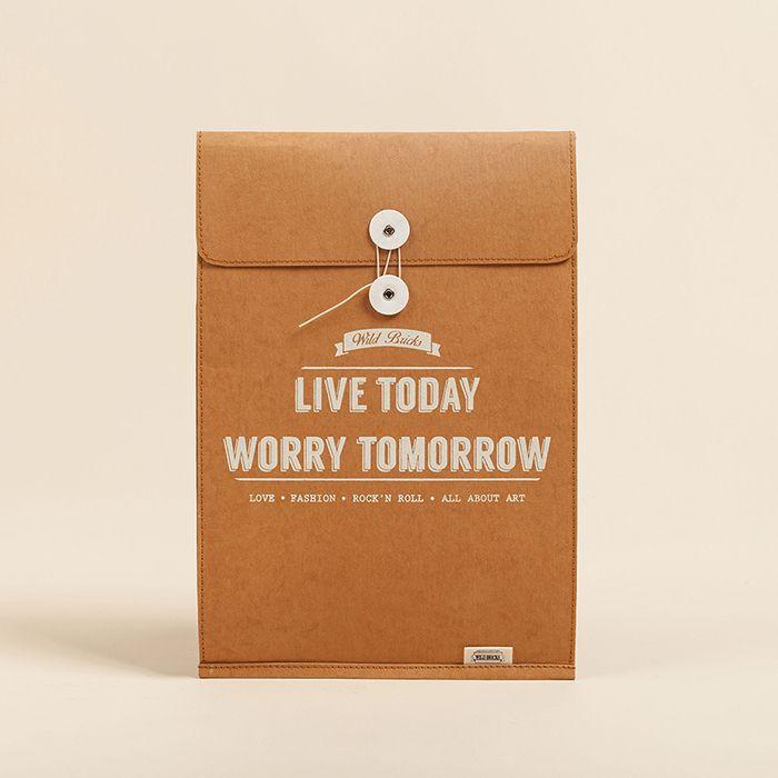 Brief case & Notebook pouch 11-13inch / 14-17inch (brown) by 와일드브릭스WILDBRICKS