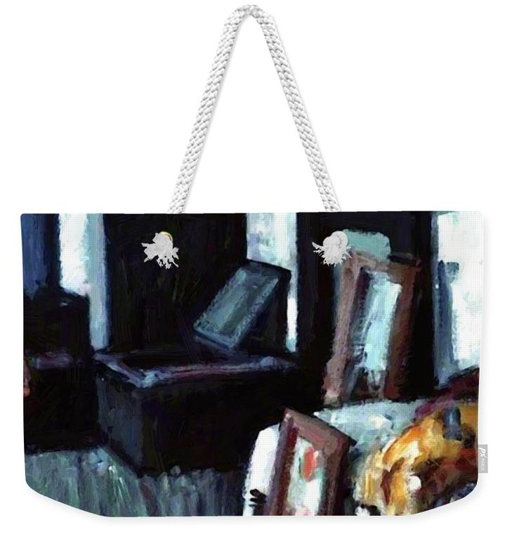 Studio Weekender Tote Bag featuring the painting Studio Interior by Peploe Samuel