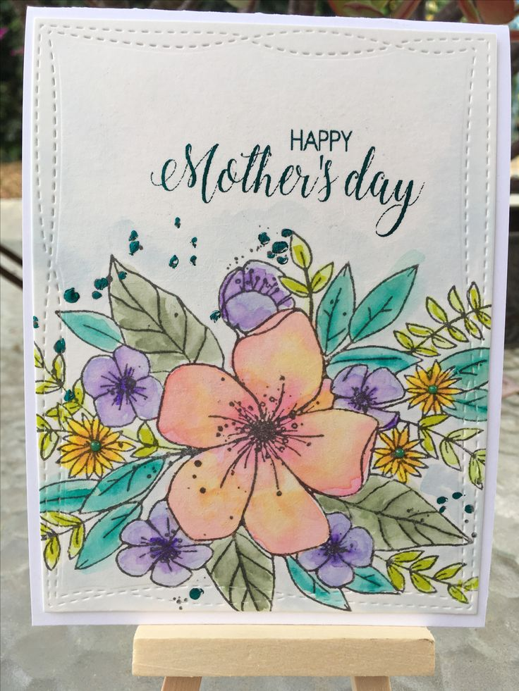 mothers day card crafted - 736×981