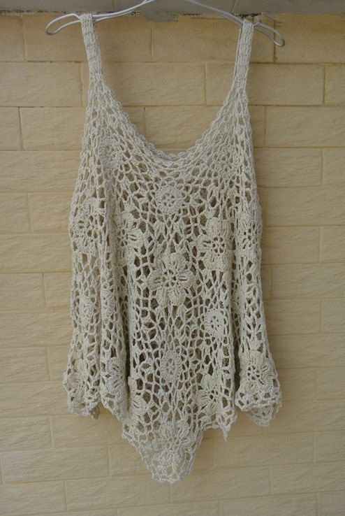 Crochet Tops Womens Tunics Plus Size Loose By