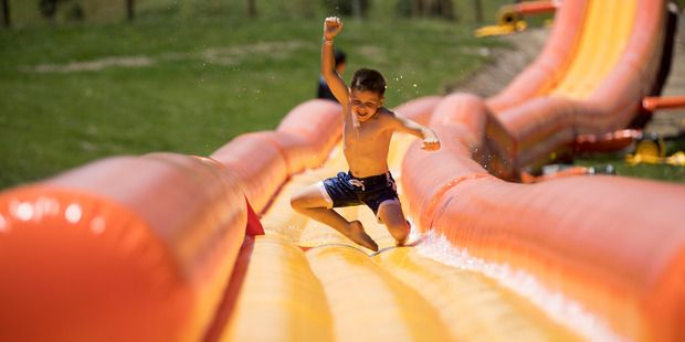 The giant Aflex water slide that has just opened at the Silverdale Adventure Park. Picture / Dean Purcell - NZ Herald