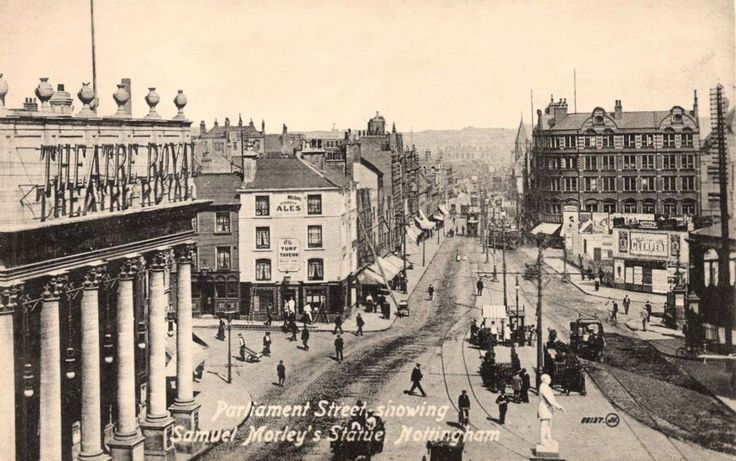 Theatre Square and Parliament Street, Nottingham, c 1910.