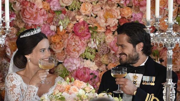 wedish Royal Family held a wedding dinner in honor of Prince Carl Philip and Princess Sofia at the Royal Palace in Stockholm on June 13, 2015.