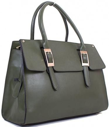 Кожаная зеленая сумка-портфель для делового образа ETERNO ET8075-green. Купить женские сумки из кожи и замша в Киеве по низким ценам - женские сумки и клатчи в интернет-магазине «Толстосум».