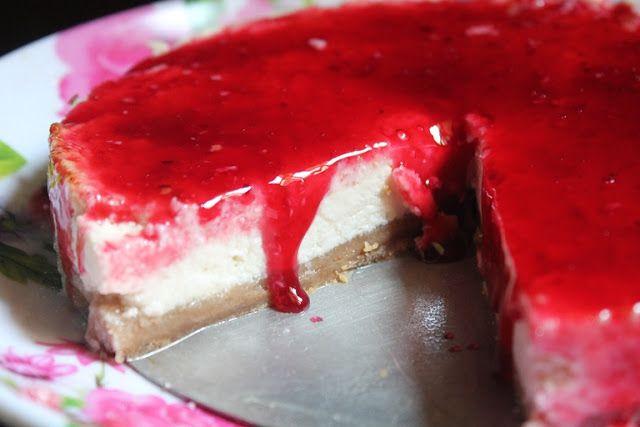 YUMMY TUMMY: Baked Eggless Cheesecake Recipe - Eggless Classic Cheesecake Recipe