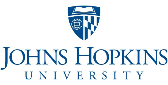 Johns Hopkins University recently streamlined their logo.  Compare this version to the more colorful but visually cluttered original, which also contains elements from the Maryland state flag, globe, book, and shield.