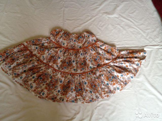 Ситцевая юбка для дачи