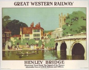 Vintage GWR Henley on Thames Railway Poster.17
