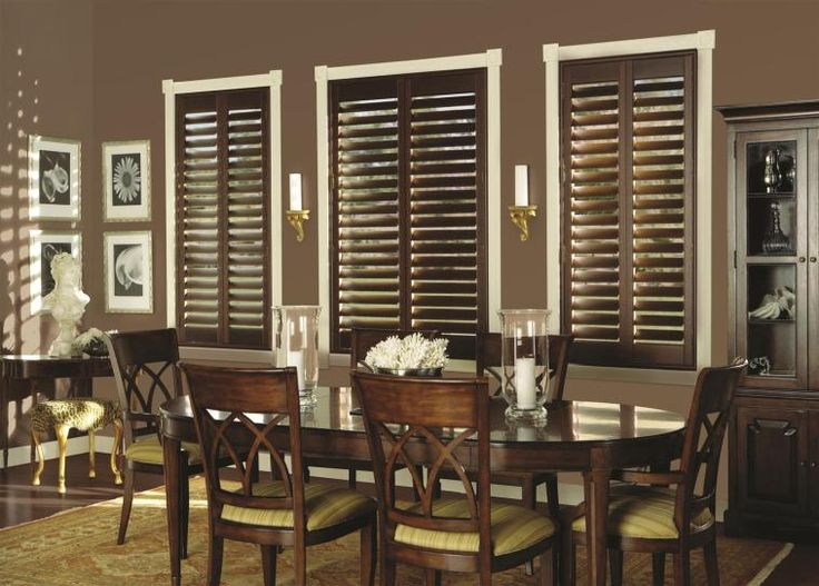 100% Hardwood Shutters add beauty and depth to any decor!  Pinned by Budget Blinds of Walnut Creek