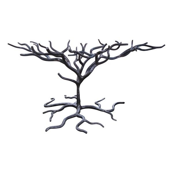 wrought iron tree table base this could hold a rectangle