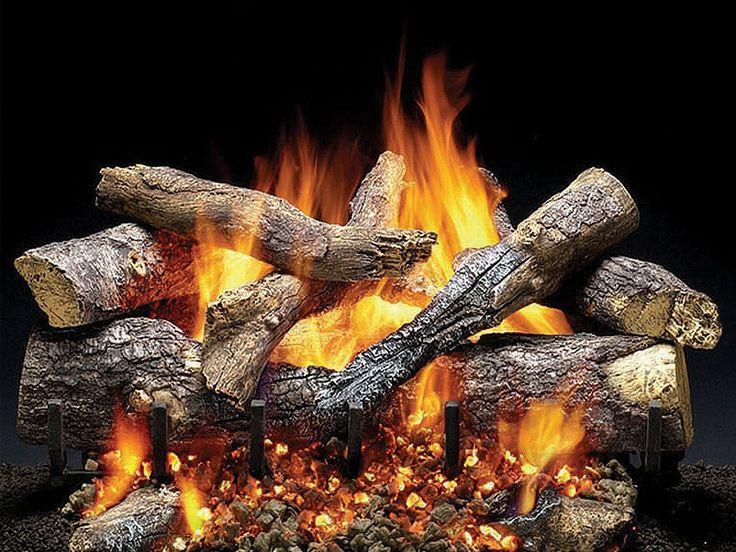 Heat And Glo Fireside Grand Oak Gas Log Set Heatilator