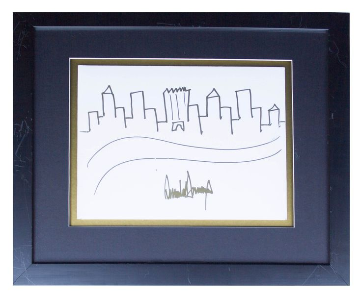 Donald Trumps Drawing Of The New York City Skyline Just Sold For 29184 At Auction