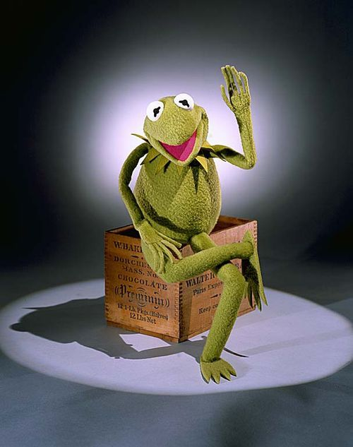 """The Seventies - """"Hi ho, Kermit the frog here."""" Kermit is the creation and alter ego of master puppeteer Jim Henson. He served as a crusader for tolerance through his hit song """"(It's Not Easy) Being Green."""""""