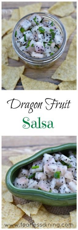 Dragon Fruit Salsa. Here is a fun way to eat dragon fruit. This easy fruit salsa recipe is perfect for entertaining. Ready in 5 minutes.