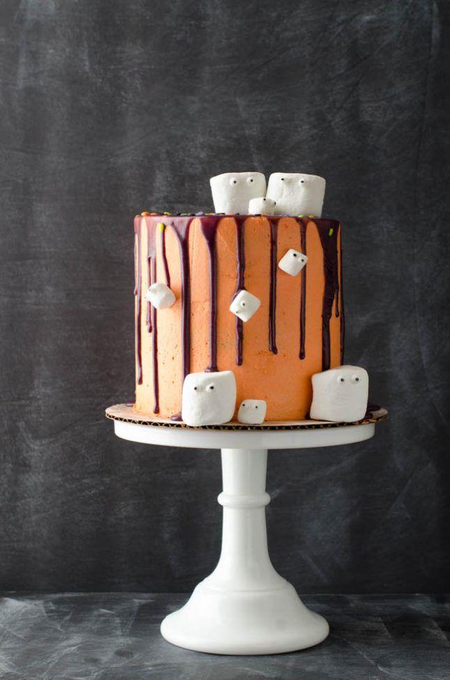 Marshmallow Madness Halloween Cake recipe.