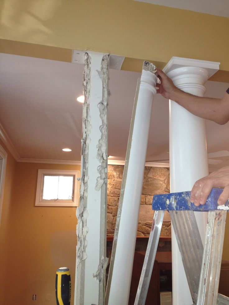 Remove fiberglass column