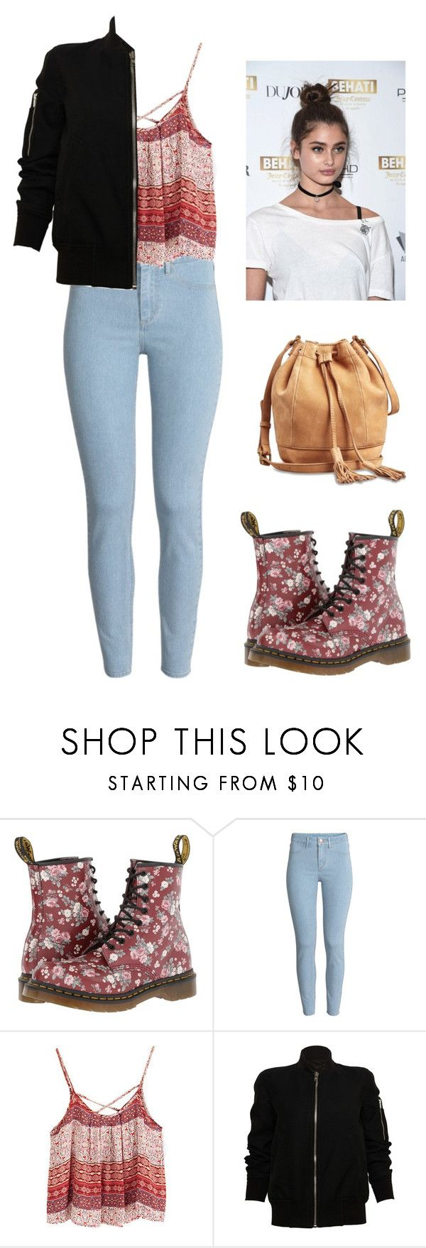 """""""Cara Nicole 🎀"""" by kittylovesxoxo ❤ liked on Polyvore featuring Dr. Martens, H&M, Rick Owens and Lucky Brand"""