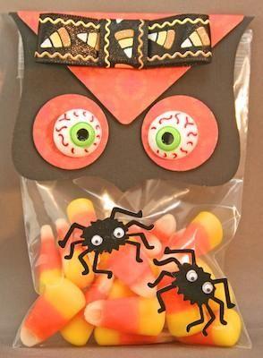 DIY Halloween Treat Bag : DIY Handmade Halloween Owl Treat Bags and Favors