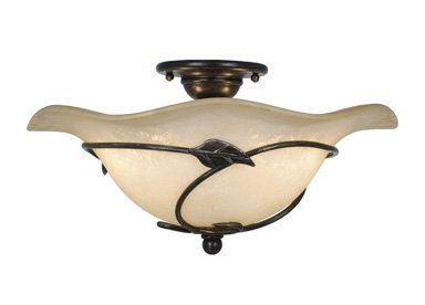 View the Vaxcel Lighting CF38815 Vine 2 Light Semi-Flush Ceiling Fixture at FaucetDirect.com. - 149