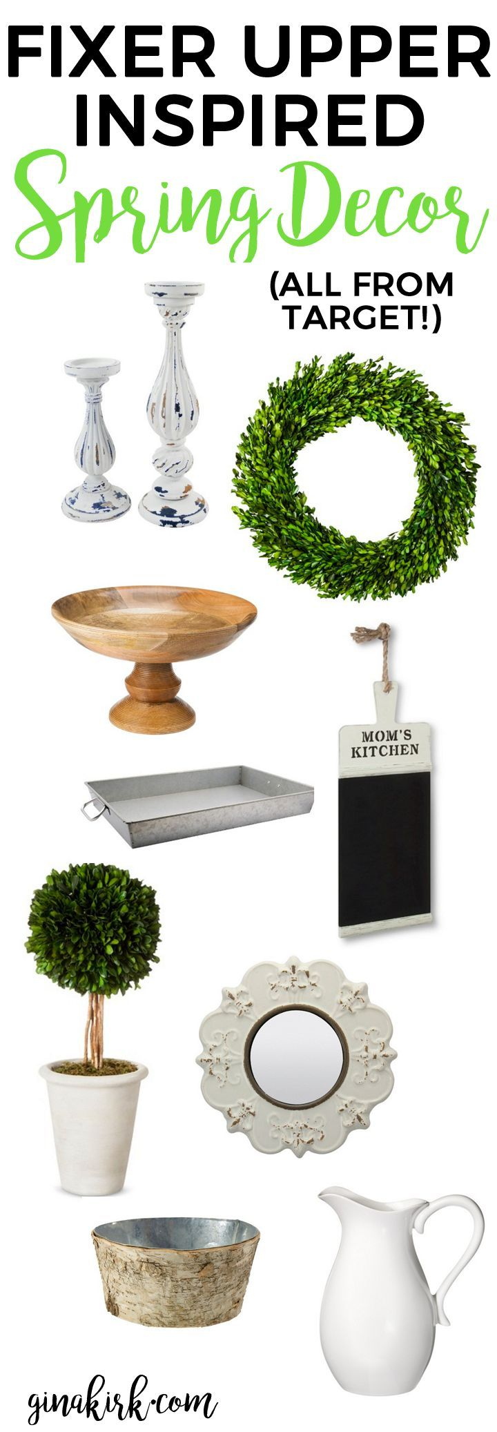 Fixer upper inspired spring decor | Home decor from Target | Fixer upper design finds at Target | GinaKirk.com