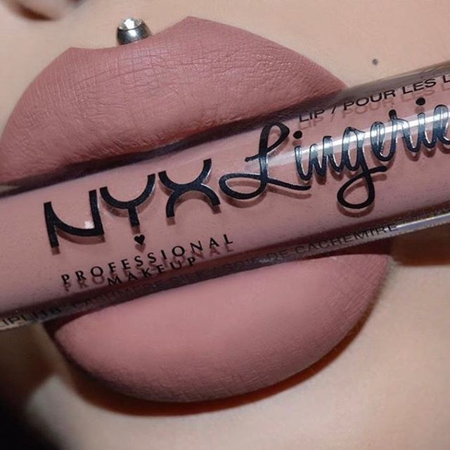 @nadina_ioana treats her lips to our Lip Lingerie in 'Cashmere Silk'  Find more of our pretty lippies at @ultabeauty ☺️ || #nyxcosmetics #ultabeauty