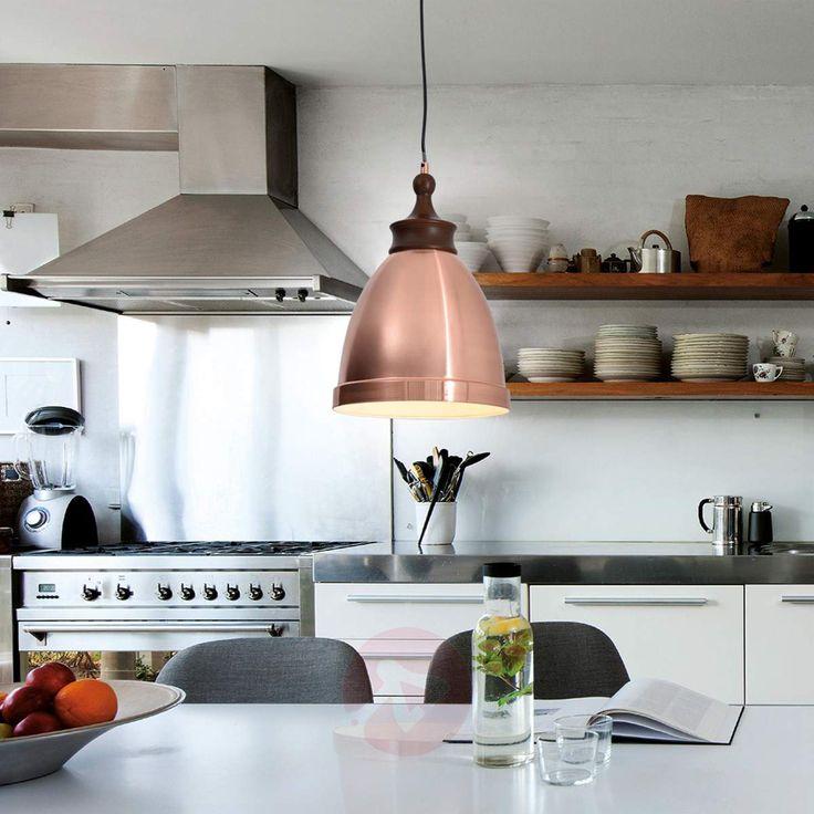 Lampada a sospensione color rame Hevin, stile industriale. Disponibile sullo shop online  Lampade.it (Nr.art.: 7000773). Dai un'occhiata!