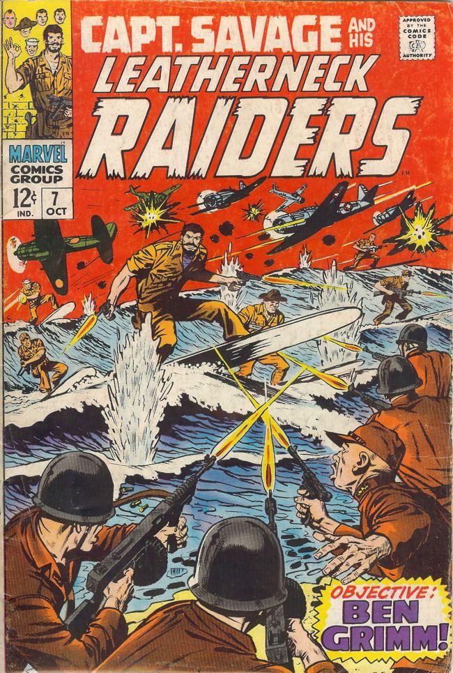 Captain Savage; Vol 1, 7 Silver Age Comic Book. FN-. Oct 1966.   Marvel Comics #silveragecomics #captainsavage #bengrimm #warcomics #comicsforsale